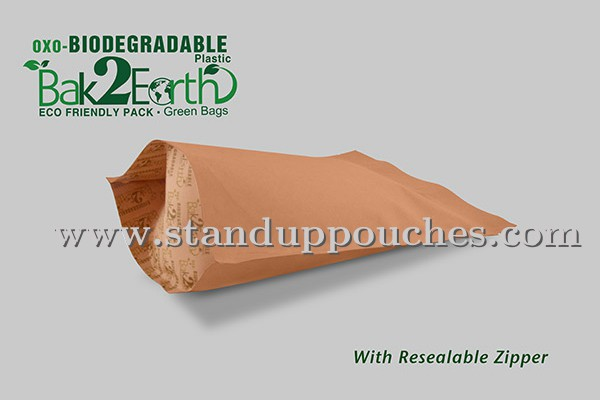 Biodegradable Bags with Zipper